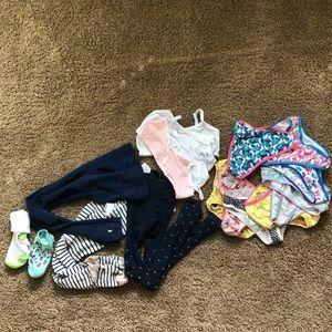 Girls training bras-tights-socks-underwear sz 6-8